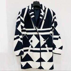 ZARA Geometric Wool Aztec Pattern Coat Jacket